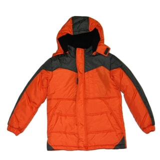 Northpoint Toddler Boys Vibrant Orange Bubble Jacket