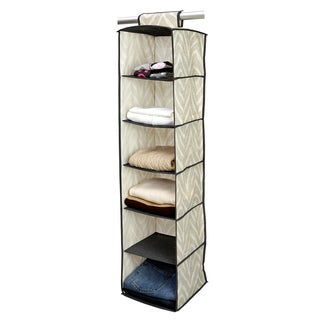 The Macbeth Collection Natural Zebra 6-shelf Organizer