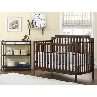 Baby Relax Kypton Nursery-in-a-Box 3-in-1 Espresso Crib with Changing Table