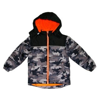 Northpoint Boys Camo Bubble Jacket (Sizes 8-18)