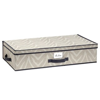 The Macbeth Collection Natural Zebra Under-the-Bed Storage Box