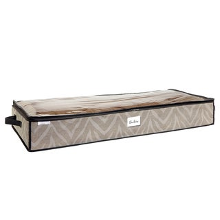 The Macbeth Collection Natural Zebra Under-the-Bed Storage Bag