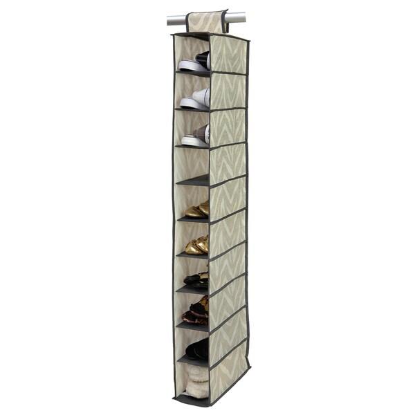 The Macbeth Collection Natural Zebra 10-shelf Shoe Organizer 13956173