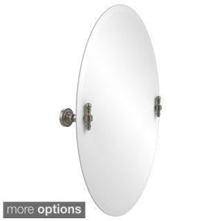 Retro Dot Frameless Beveled-edge Oval Tilt Wall Mirror