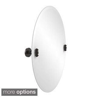 South Beach Frameless Oval Tilt Beveled Edge Wall Mirror