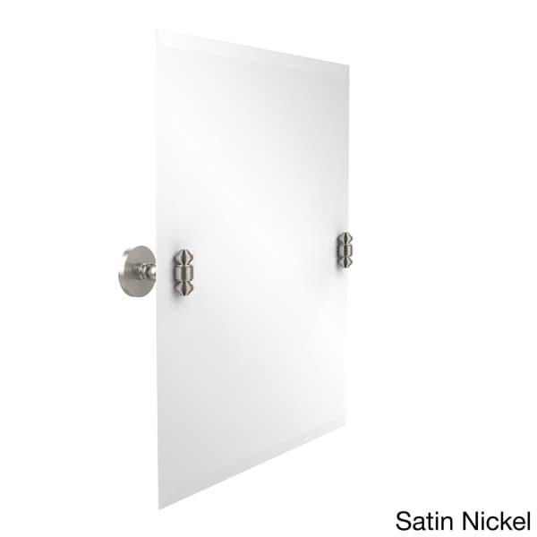South Beach Collection Beveled Edge Unframed Rectangular Tilt Wall Mirror