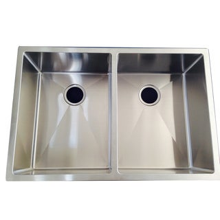 Starstar 16 Gauge 304 Stainless Steel Handmade Double Undermount Kitchen Sink