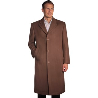 Jean Paul Germain Men's 'Sander' Cocoa Brown Overcoat