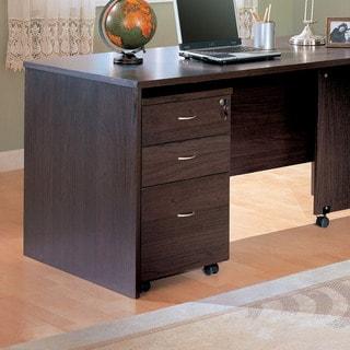 Dark Cappucino Mobile Pedestal File Cabinets
