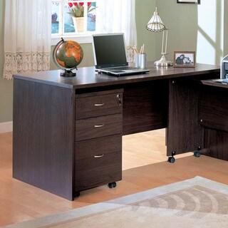 Dark Cappucino Wood Writing Desk