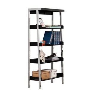 Black Nickel Clayton 4-shelf Bookcase