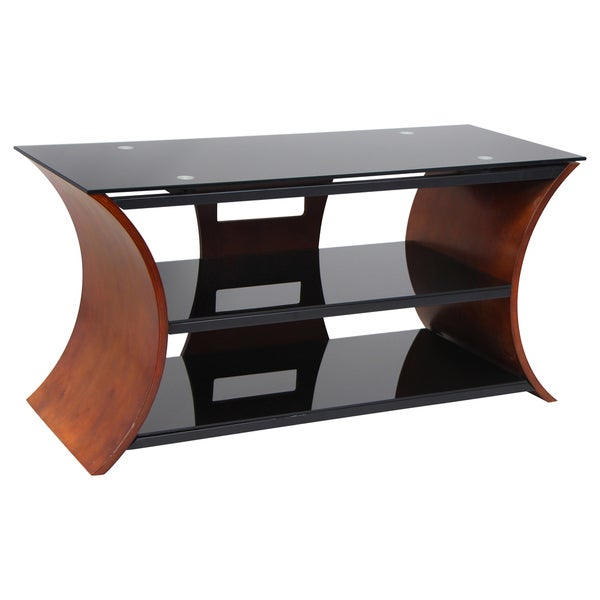 Metro Series 168 Walnut Bent Wood TV Stand