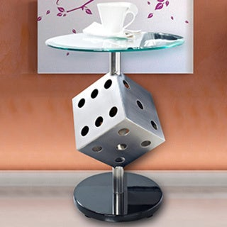 Powell Snake Eyes Metal and Glass Table