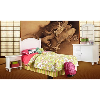 Powell White 4-piece Bedroom-in-a-Box Set