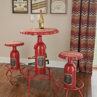 Oh! Home Retro Bottle Bar Stool