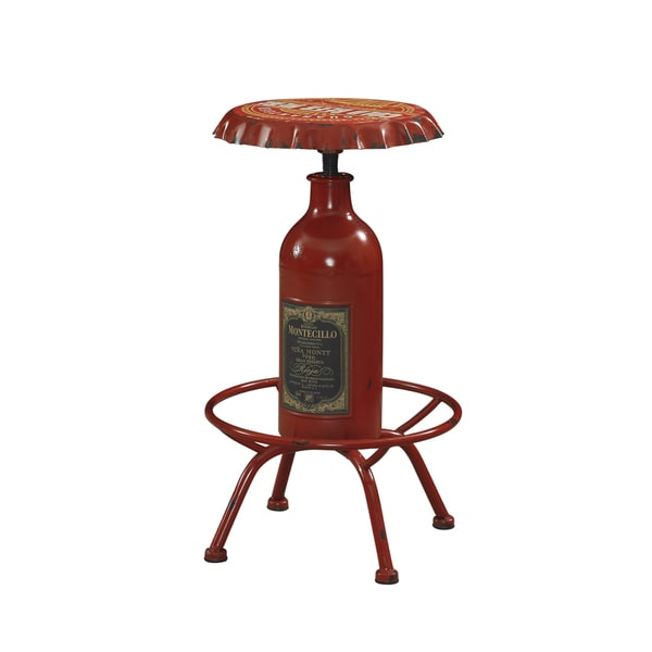 Powell Retro Red Bottle Bar Stool
