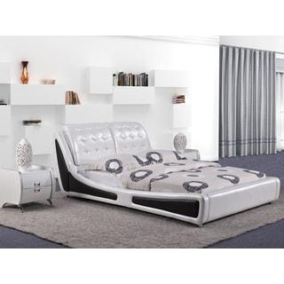 Victoria White Contemporary Platform Bed