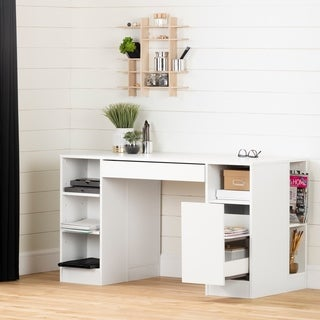 South Shore Crea Collection Pure White Craft Table