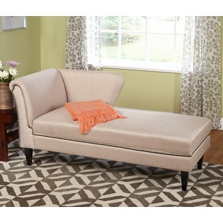Simple Living Jaz Beige Storage Chaise