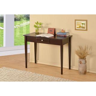 William's Home Furnishing Bodai Espresso 1-drawer Desk