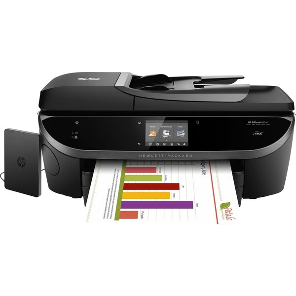 HP Officejet 8040 Inkjet Multifunction Printer - Color - Plain Paper
