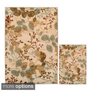 Easton Collection Ivory Delight 2-piece Area Rug Set