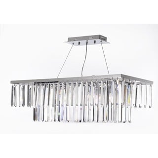 Gallery Contemporary 8-light Crystal Modern Rectangular Chandelier