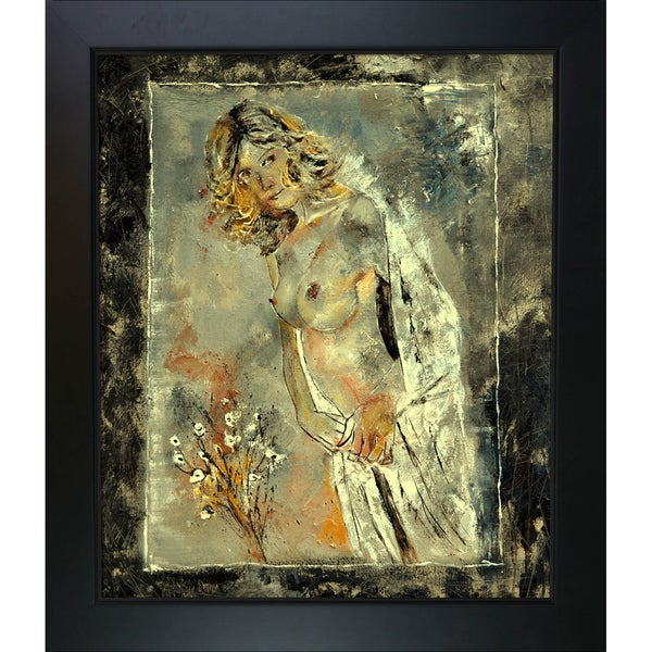 Pol Ledent 'Nude 7921 ' Framed Fine Art Print - Brown 13957107