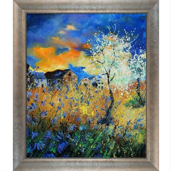 Pol Ledent 'Blue cornflowers ' Framed Fine Art Print