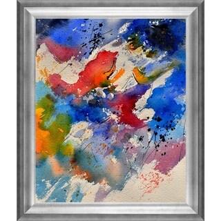 Pol Ledent 'Watercolor 111471 ' Framed Fine Art Print