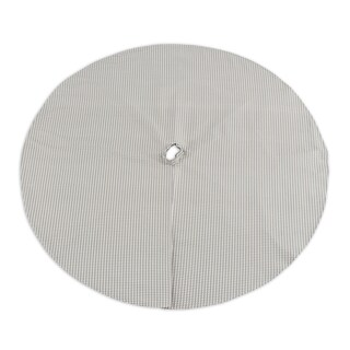Houndstooth Storm Twill 53-inch Round Tree Skirt