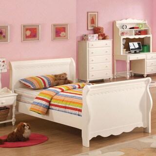 Furniture of America Cornelia White Youth Sleigh Bed