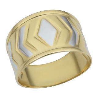 Fremada 10k Two-tone Gold Arrow Surface Design Ring