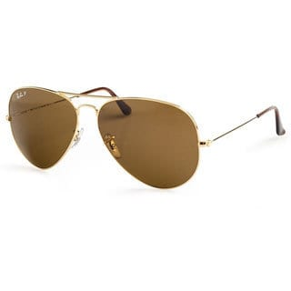 Ray-Ban 'RB3025 001/57' Polarized Aviator Sunglasses