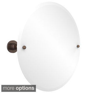 Astor Place Collection Beveled Edge Unframed Round Tilt Wall Mirror