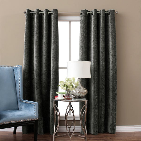 Austin Horn Classics Elite Velvet Chenille Luxury Curtain Panel