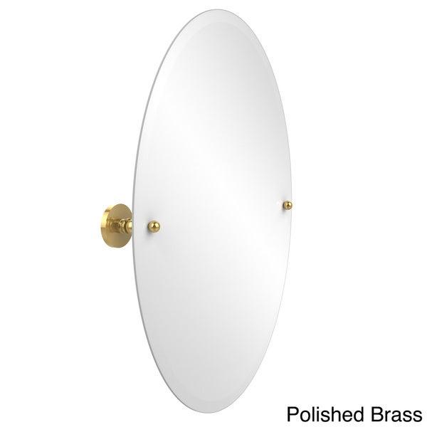 Frameless Oval Tilt Wall Mirror