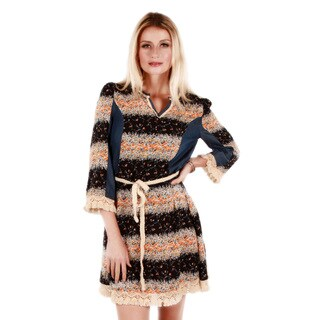 Women's Floral Pattern 3/4-sleeve Dress
