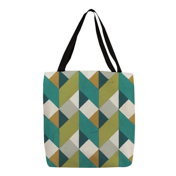 Thumbprintz 'Chevron Illusion II' Graphic Print Canvas Tote