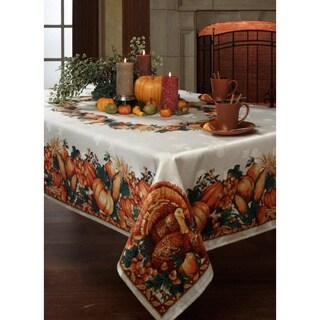 Harvest Splendor Border Tablecloth