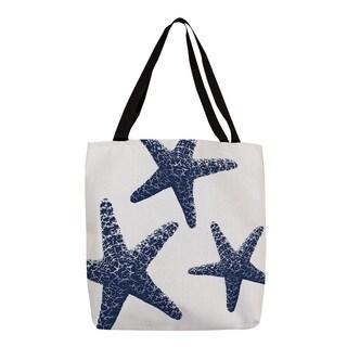 Thumbprintz 'Nautical Nonsense' Blue and White Starfish Tote