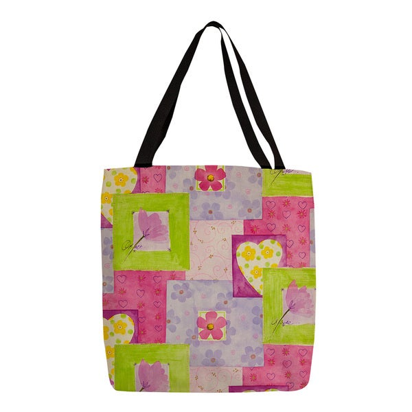 Thumbprintz Hearts and Flowers Tote Handbag