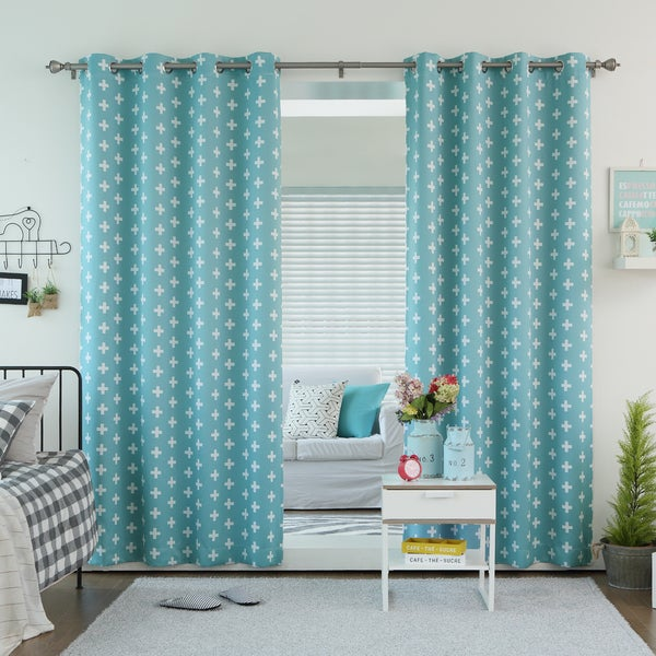 Lights Out Plus Print Room Darkening Grommet Curtain Panel Pair