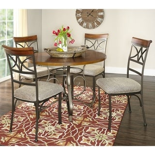 Powell Hamilton Brushed Cherry and Matte Pewter 5-piece Dining Set
