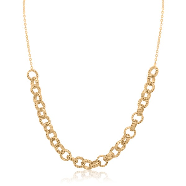 Gioelli 14k Gold Mini Tubogas Bib Necklace