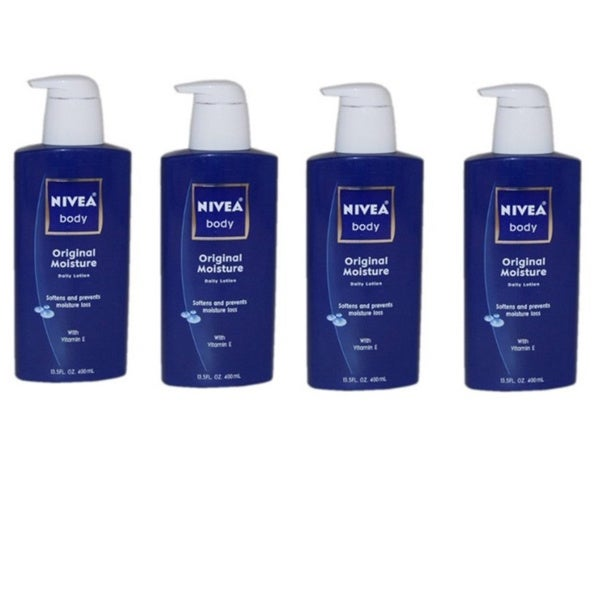 Nivea Original Moisture Daily 13.5-ounce Normal to Dry Lotion (Pack of 4)