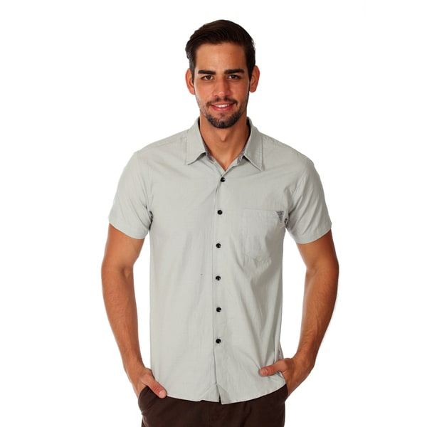 Something Strong Men's Light Grey Cotton Chambray Shirt