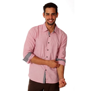 Something Strong Men's Red Microstripe Cotton Shirt