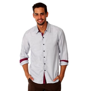 Something Strong Men's Grey Microstriped Cotton Shirt