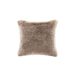 Madison Park Signature Coyote Faux Fur Pillow